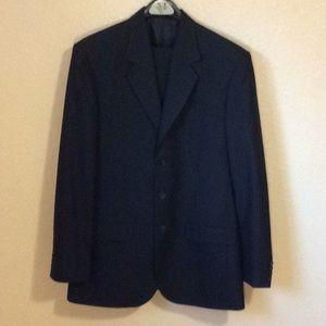 Vintage Suit, Black Pin Striped, EUC, Italian made